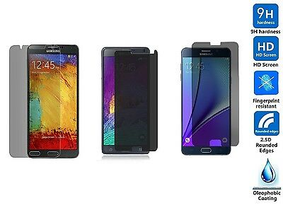 9H Privacy Tempered Gorilla Glass Screen Protector For Samsung Galaxy Note 3 4 5