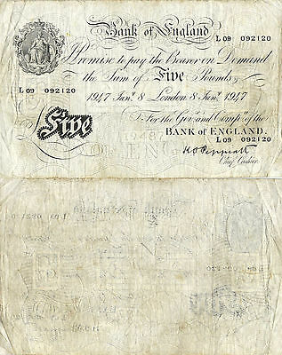 GREAT BRITAIN - 5 Pounds  1947     P.342