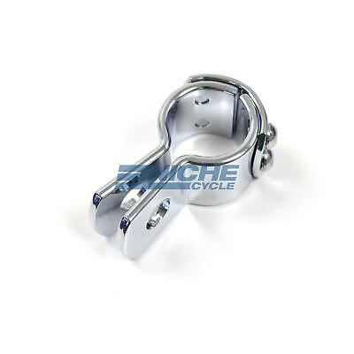 """3-Piece Exhaust Frame Footpeg Hanger Motorcycle Clamp Chrome 1-1/4"""""""