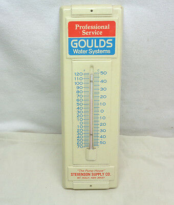 Vintage Goulds Water Systems Professional Service Thermometor
