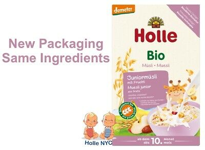 Holle Organic Junior Muesli Multigrain porridge w Fruit NEW 250g FREE SHIPPING