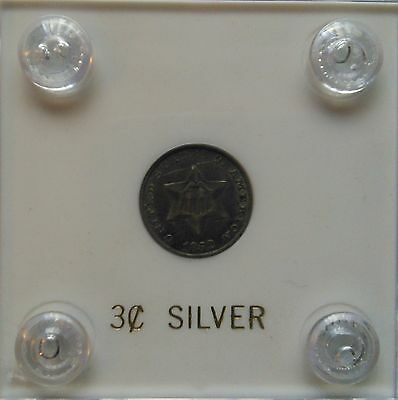 1852 Silver Three Cent Piece/3 Cent Silver/3c  Trime           #4793