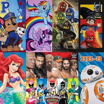 Official Licensed Character Cotton Beach Towel 2017 Designs Boys Girls Kids Gift
