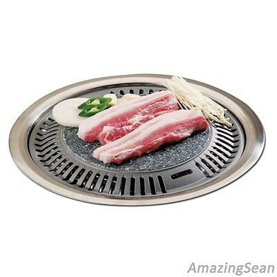 KOREAN BBQ STONE Grill Steak Barbecue Stove Top Pan Indoor