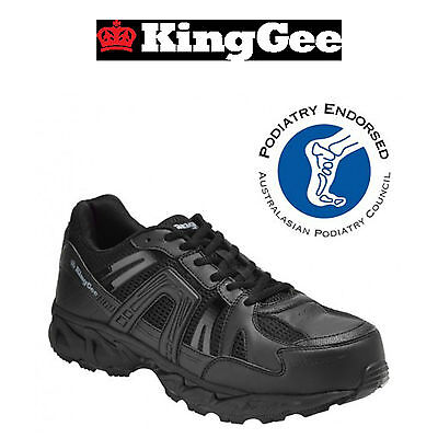 Mens KingGee Comtec Safety Toe Shoe Work Shoes Running Construction Work K26420
