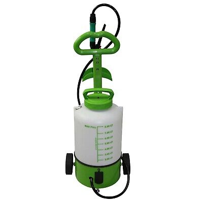8L Battery Weed Sprayer on Wheels Electric Garden Spray Powered 6v/240v