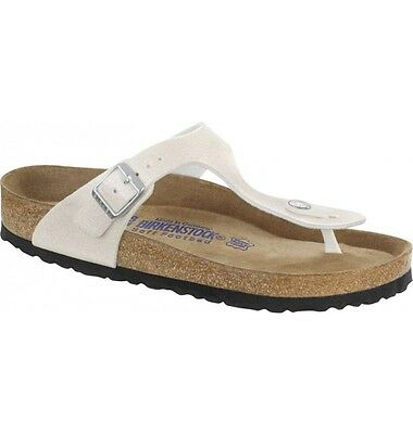 CLEARANCE Birkenstock BF Gizeh $179rrp Magic Galaxy White SOFT FOOTBED BNIB