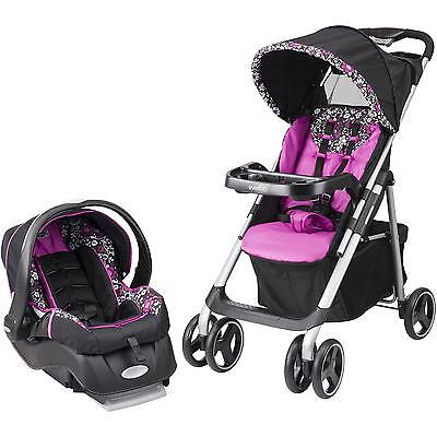 Evenflo Vive Travel System Car Seat and Stroller Daphne Safety Baby Infant New