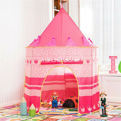 Children Pop Up Play Tent Princess Playhouse Wigwam Party Tent Gift For Kids