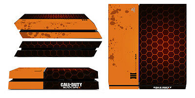 Skin Ps4 Call Of Duty Black Ops 3 Orange Exagonal Style Console Sticker Sk-107