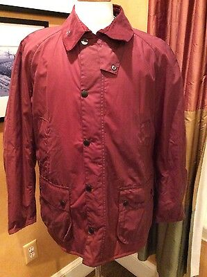 Brand New Men's BARBOUR Ashtone Waxed Jacket, XL/L Rosewood MSRP  $429