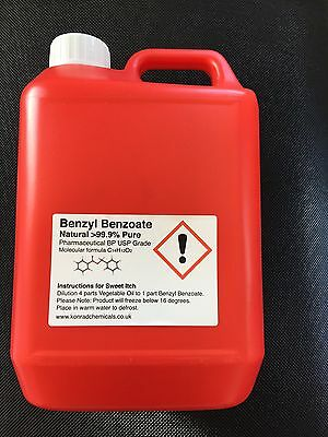 Benzyl Benzoate 99.9%  5000ml (5lt) SWEET ITCH