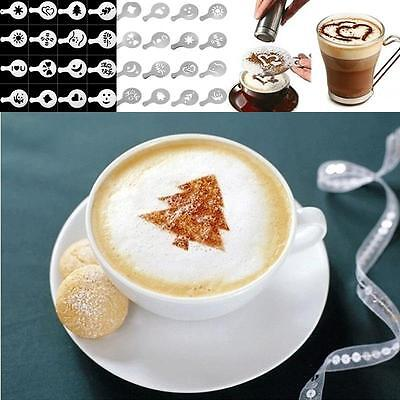 16pcs Chocolate Shaker Art Latte Art Stencil Coffee Decorating Molds Tool