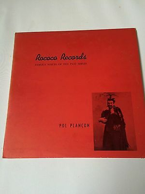 Pol Plancon - Famous voices of the past series,Rococo Records, 12'' LP