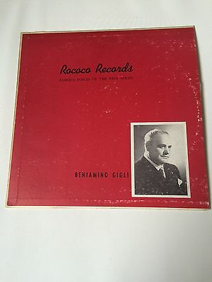 Beniamino Gigli - Famous voices of the past series, 12'' LP