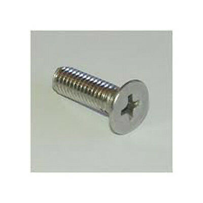 Stainless Steel Metric M5 X 45mm Phillips Flat Head Machine Screw A2 PFH 10 Pack