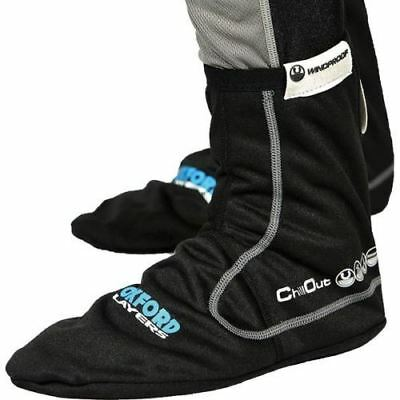 Oxford Thermal Chillout Windproof Motorcycle Bike Cycling Socks Black