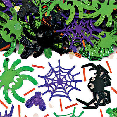 Halloween Spider Table Confetti Mix Colour Foil Spider Table Sprinkle Decoration