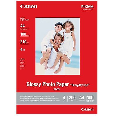 Canon A4 Glossy Photo Paper 210Gsm 100 Sheets - Gp-501 0775B001