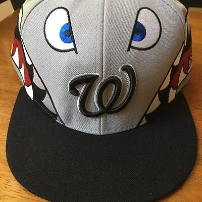 Washington Nationals New Era Fitted Cap Hat Shark Tooth Size 8