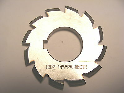 "NOS Decovich Tools Inc. CAN 2.5"" Dia. Involute Gear Cutter 18 DP 14-1/2 PA #6CTR"