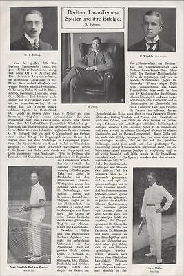 BERLIN, 1912, Lawn-Tennis-Turnier-Club Sport Rothschild Prinz Karl Friedrich