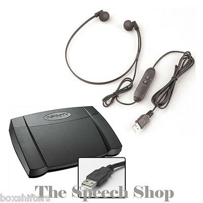 Infinity IN-USB2 Digital Transcription Foot Pedal & Spectra SP-USB Headset