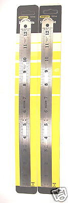"""2 NOS General USA made 12""""/ 300mm PRECISION STAINLESS STEEL FLEX RULE #1201ME  C"""