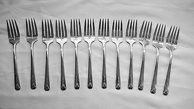 12 Salad Forks Oneida Community Silverplate Milady Pattern Excellent!