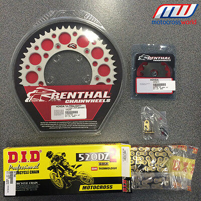 Renthal Sprocket Kit & DID Heavy Duty Chain CR CRF 125/250/450/500 R X Motocross
