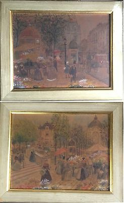 Gorgeous, Henri GRENIER (1882-1940), French painter, pair of watercolors.