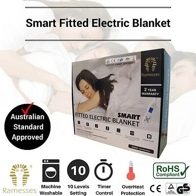 NEW Electric Blanket Heated Fully Fitted Dual Machine Washable ALL Size Bed