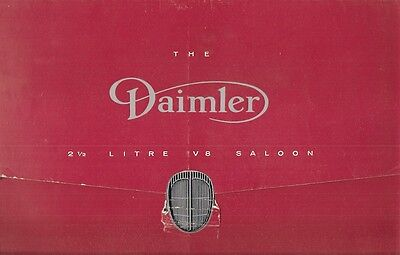 Daimler V8 2.5 Litre 1962-67 UK Market Foldout Sales Brochure Jaguar Mark 2