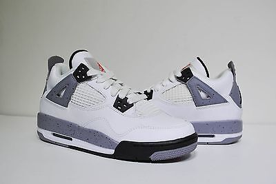 27f2b554bdb1 KIDS NIKE AIR Jordan Iv 4 Retro Ps Og White Black Cement Grey 308499 ...