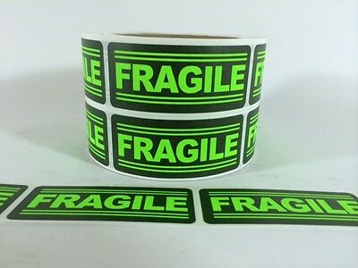 25 1x3 FRAGILE Labels Stickers for shipping supplies office products FRAGILE NEW