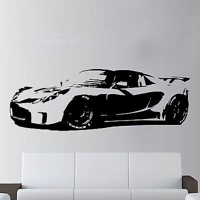 XL Large Car Lotus Elise Sports Super Free Squeegee! Wall Art Decal / Sticker