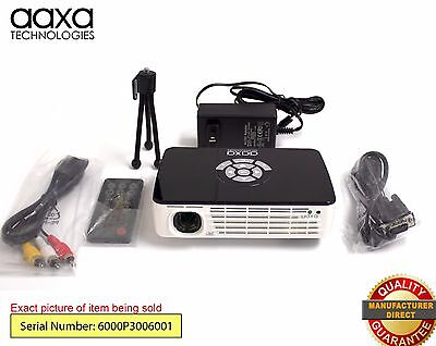 AAXA P300 HD Home Theater Pico Projector,60-Min Battery, HDMI (Refurbished)