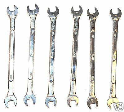 6 NOS SK USA machinist mechanic PROFESSIONAL 6mm x 7mm OPEN END WRENCH #8206 $90