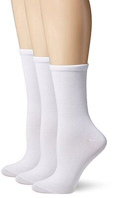 Hanes Women's Comfortsoft Crew Pack of 3,White,Shoe Size 5-9