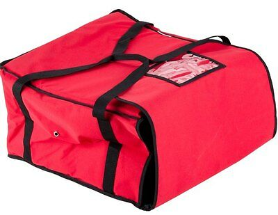Insulated Nylon Pizza Delivery Bag Hot Foods Carrier Transport Restaurant