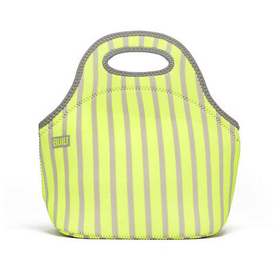 Built NY Neon Stripe Lime Gourmet Getaway Lunch Tote