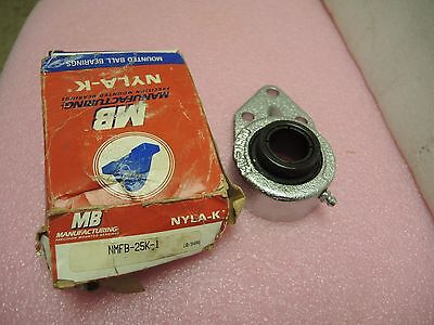 "MB Manufacturing Precision Mounted Bearing NYLA-K NMFB25-1"" Nickel coated"