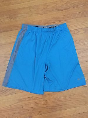 6c15a6dcc9196 Nike Fly 2.0 Dri-Fit Training Shorts Blue Grey Mens 613599-413 Size Small