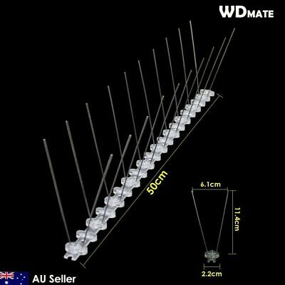 20x Bird Spike 50cm PPBase 304wire Spikes Gull Starling Pigeon PEST 10M 93008001
