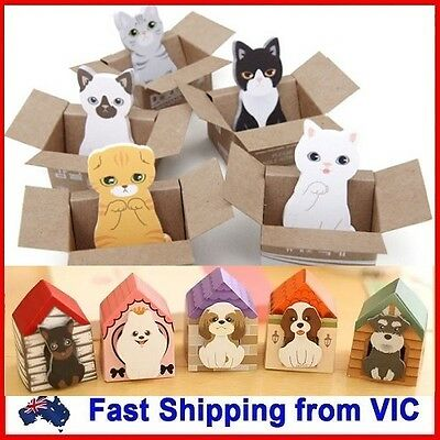Dog/Cat Sticky Note Paper Novelty Kid School Office Gift Cute Cartoon Stationery