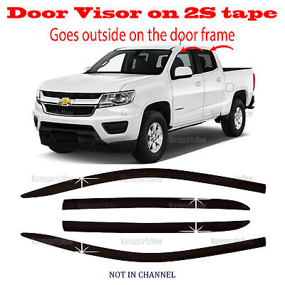 Lightronic WV194995 in-Channel Window Visors Rain Guards Smoke Tint 4PCS Set Fit for Chevy Colorado//for GMC Canyon Crew Cab 2015-2020
