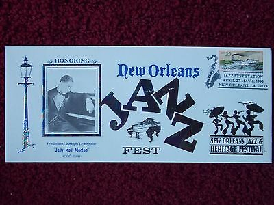 JELLY ROLL MORTON 1990 NEW ORLEANS JAZZ FEST COMMEM ENVELOPE LTD ED of 2500