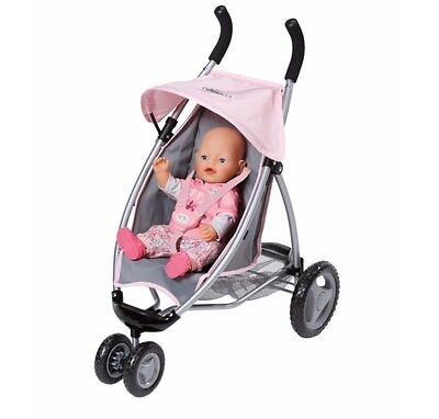 New Zapf Creations Baby Born Doll Toy Pram Jogger Dolls Stroller 821367