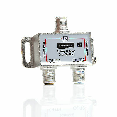 Antiference MS204 2 Way Power Pass  Splitter For Use On RF 2 For 2 Eyes