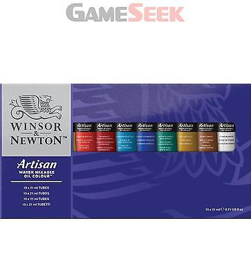 Winsor And Newton Artisan 21Ml Water Mixable Oil Colour Tube (Set Of 10)